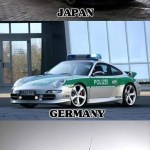 Police Cars Japan America Germany Italy Finland