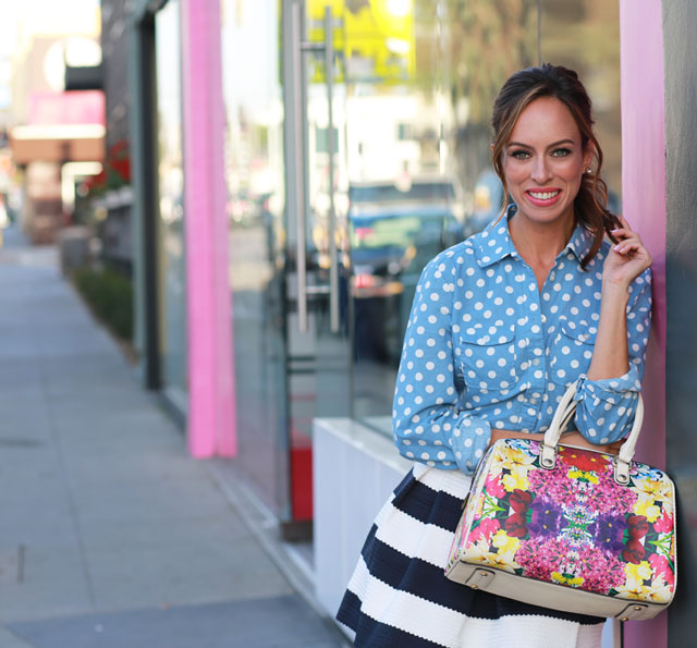 Sydne-Style-how-to-wear-mixed-prints-spring-trends-florals-stripes - stripes with polka dots