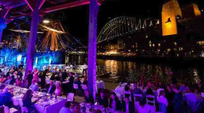 Dining al fresco at the Walsh Bay Arts Table Dinner