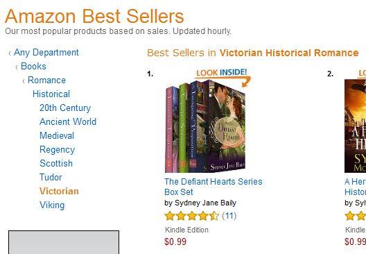 Defiant Hearts best seller list