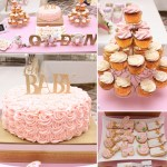 London+Baby+Shower+Sweets+Table+Rosette+Cake