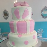 Pink_Ballerina_Shoe_topper_Baby_Shower_Cake_Sydneys_Sweets
