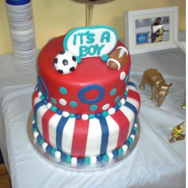 Baby Shower Cakes Long Island ~ Sports themed baby shower cake sydneys sweets