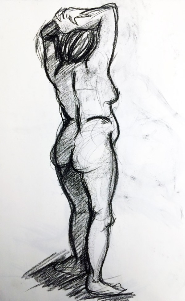 figure drawing sketch by Sylvia Kosowski
