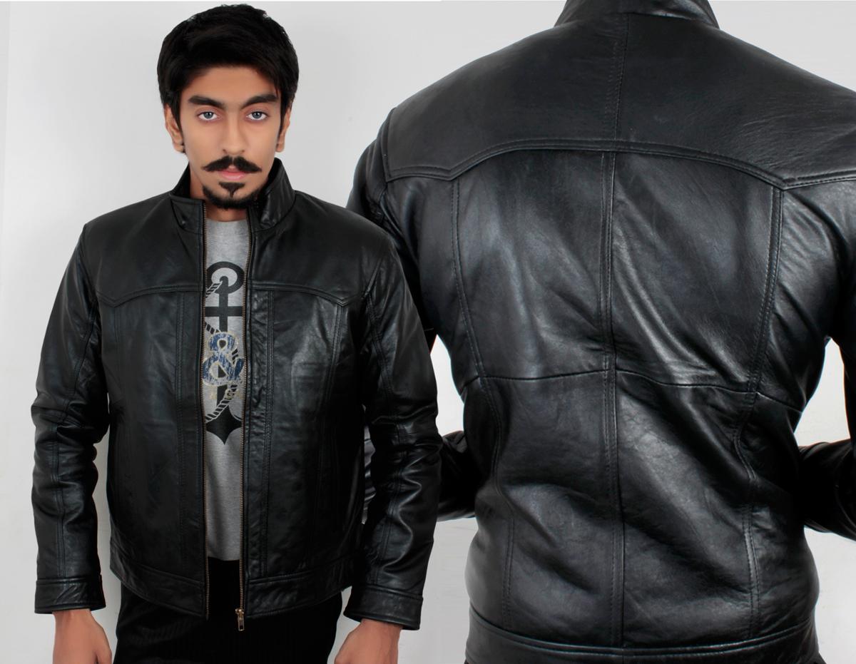 Stylish leather jacket for mens