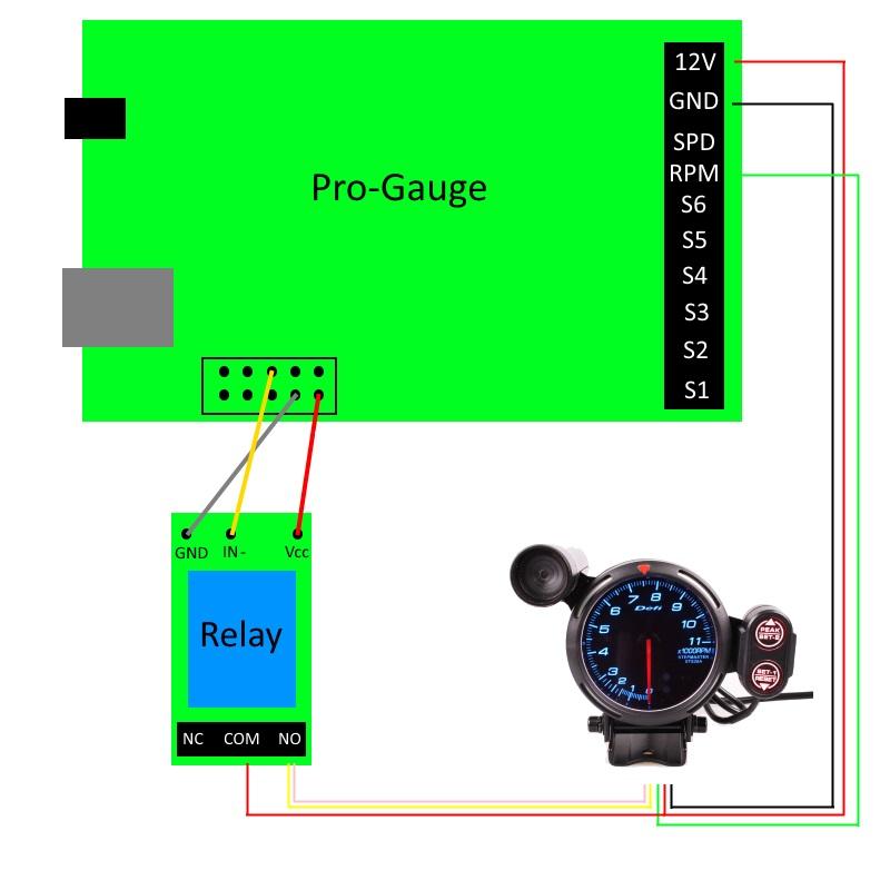 DEFI 80mm 11000 RPM Tachometer