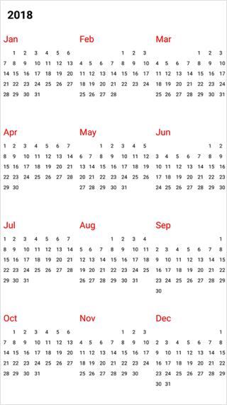 XamarinForms Calendar Control Month Calendar Syncfusion