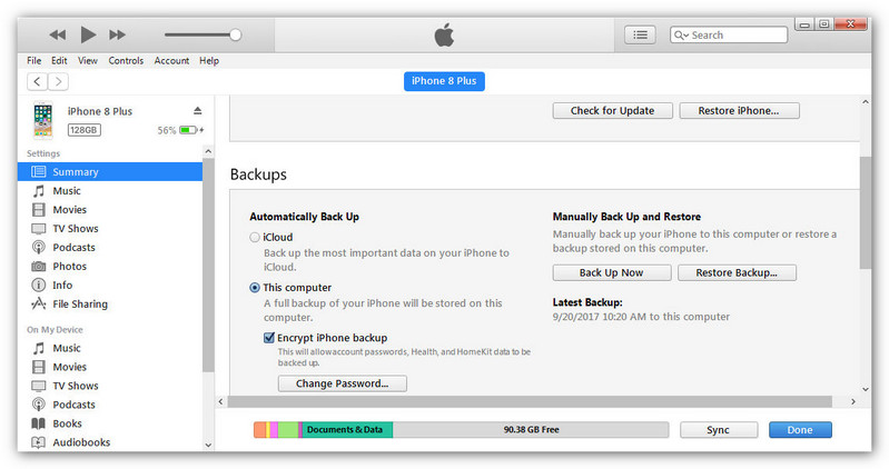 How to Backup iPhone 8 and iPhone 8 Plus to Computer Backup and