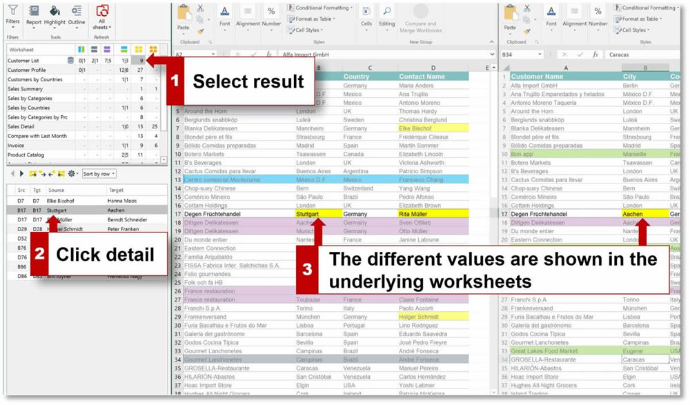 Synkronizer Excel Compare Compare, update and merge Excel files - Home