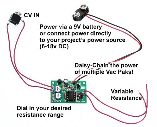 VAC-PAK CV to Variable Resistance \u2013 A Circuit Bender\u0027s Dream
