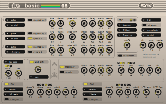 Commodore 64 synth for Windows, basic65