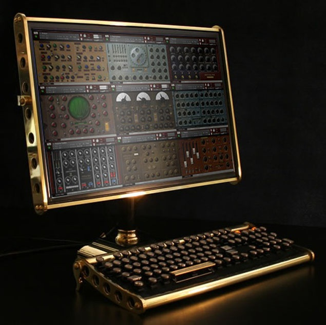 Steampunk synthesizer collection - Music Laboratory Machines