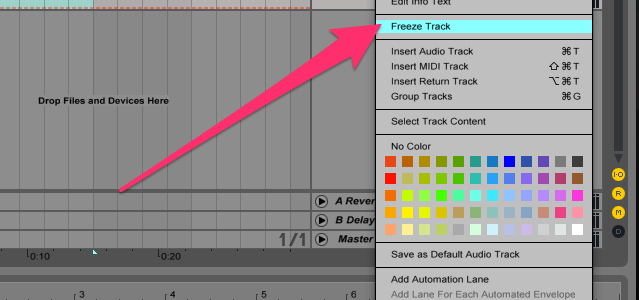 Ableton-Live-Freeze-Track
