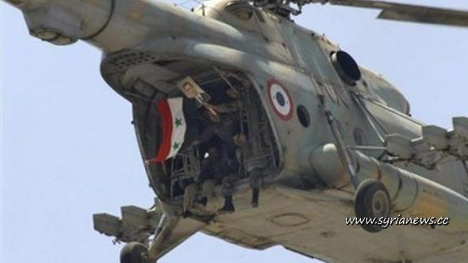 Helicopter from the Syrian Arab Army