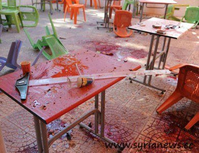 NATO's 'freedom fighters' shelled Architect College in Damascus University with mortars killing