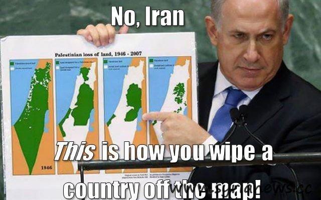 Benjamin Netanjahu and his bomb.
