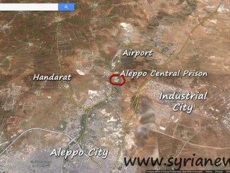 Map of Aleppo Central Prison