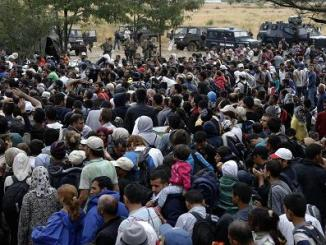 Refugees flooding into European countries