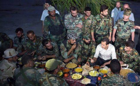 Syrian President Dr. Bashar Assad Visiting SAA Troops on Frontline