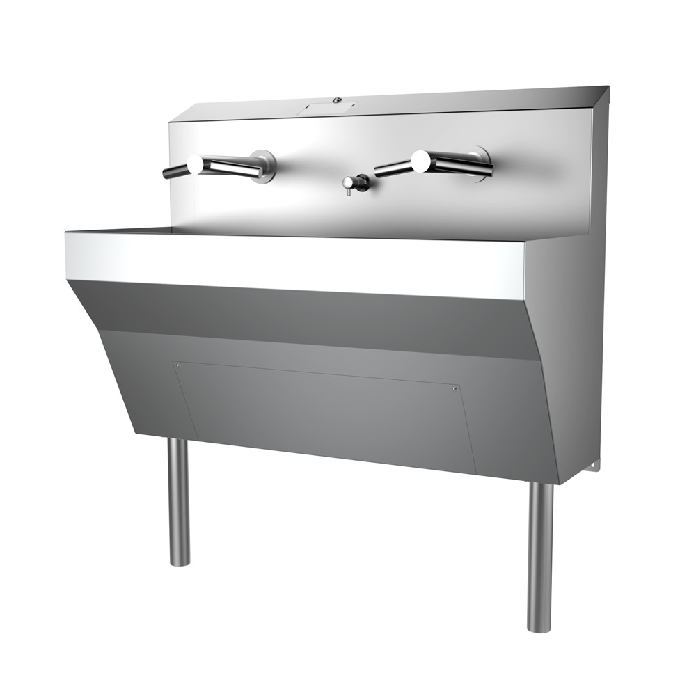 Wall Mounted Tap Trough Sink Featuring the Dyson Airblade
