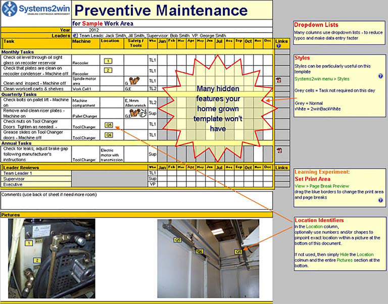Maintenance Schedule template - Preventive Maintenance Checklist