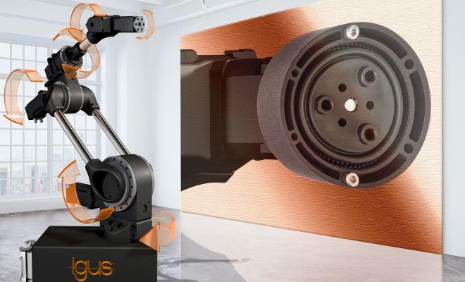 Dzięki nowej przekładni falowej można niskim kosztem zbudować kompletne, 6-osiowe ramię robota – już od 999 PLN za przegub robolink bez silnika. (Źródło: igus GmbH)