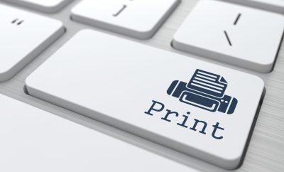 "Gray Button ""Print"" on Modern Computer Keyboard."