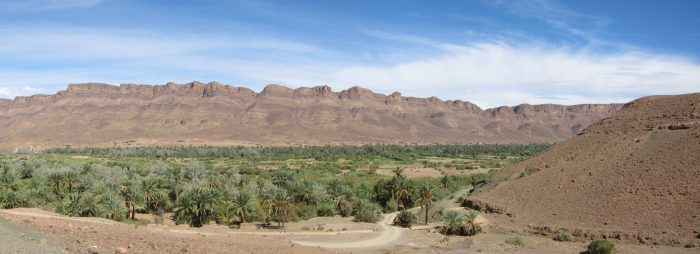 The Draa Valley or the Valley of dates. Here, Berbers live almost like their ancestors years ago and dates are the livelihood.