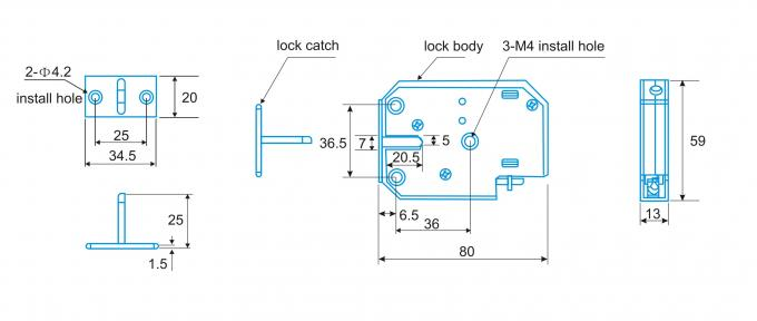 Mini Small Solenoid Bolt Electric Gate Lock DC 12V Latch Control