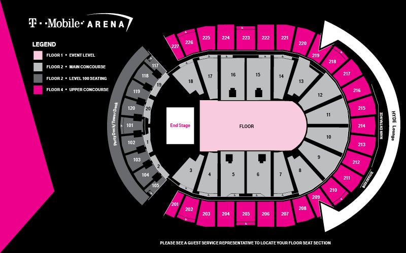 Seating Maps T-Mobile Arena