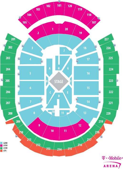 George Strait T-Mobile Arena