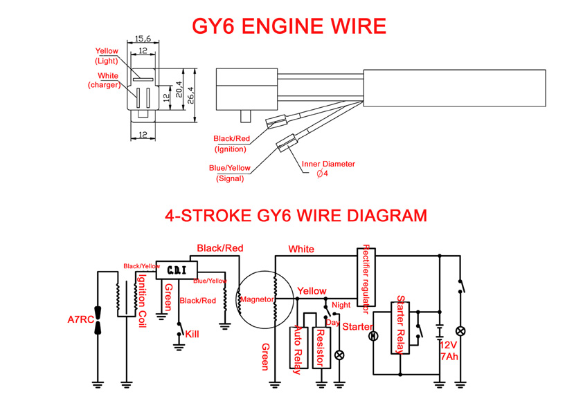 rectifier for gy6 150cc wiring diagram