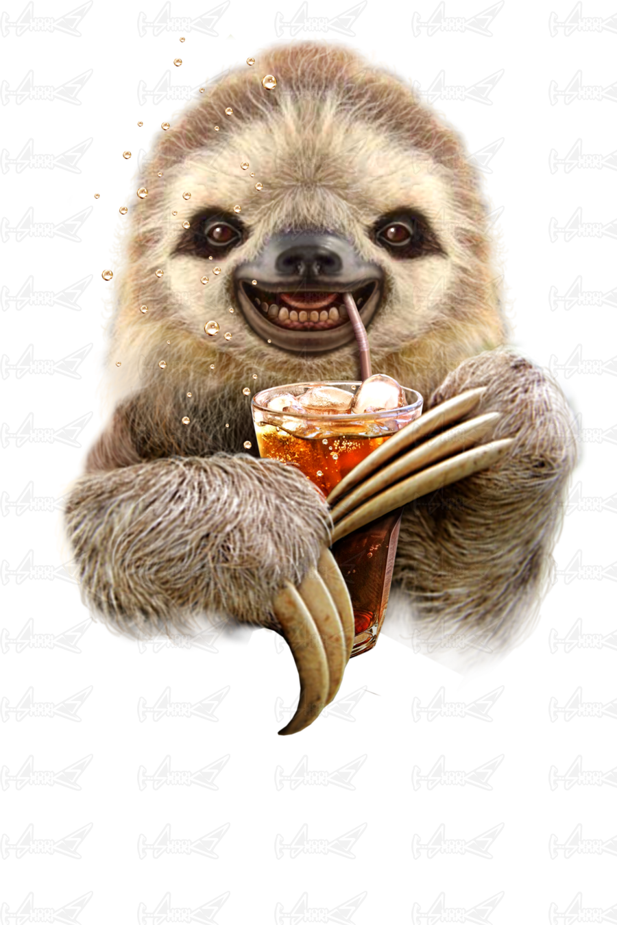 Cute Sloth Wallpaper Sloth Amp Soft Drink T Shirts Designed By Adam Lawless