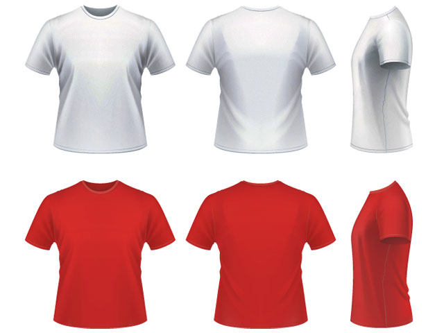 Vector realistic T-shirt Template Free Download T Shirt Template - t shirt template