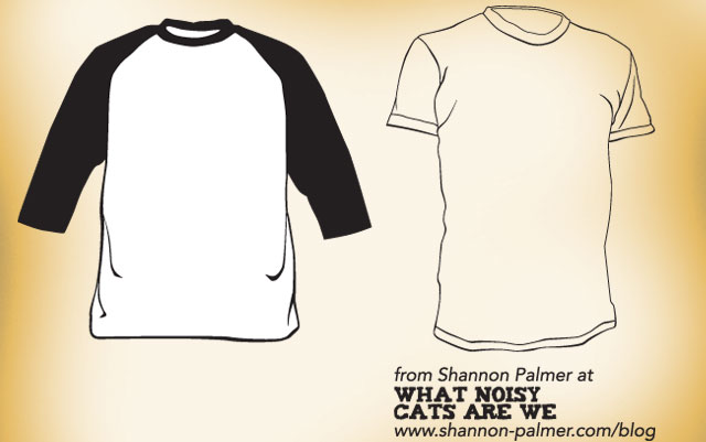 Raglan and short sleeve t-shirt template designs Free Download T