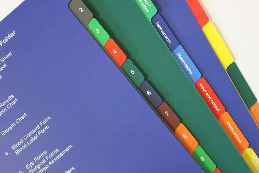 Tabbing Services Custom made tab dividers for your ring binders
