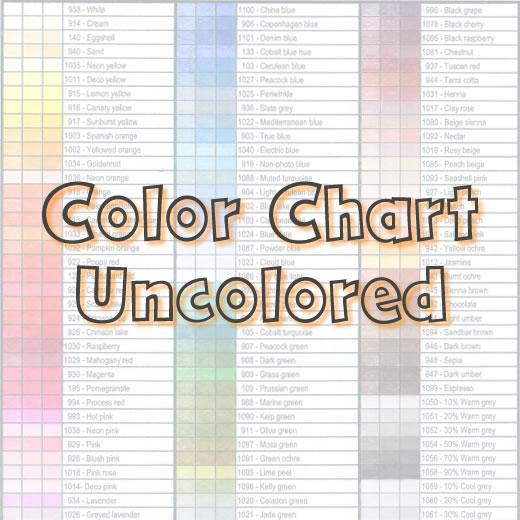 Ranger Tim Holtz - Distress Oxide Ink Pads / color chart 60 colors