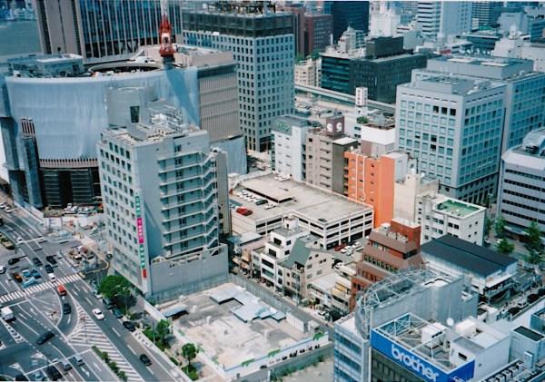 Stadtzentrum von Kōbe drei Jahre nach dem Erdbeben - die Stadt ist nur ca. 2 km breit