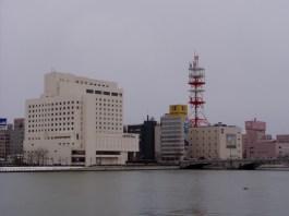 Die Bandai-Brücke im Stadtzentrum