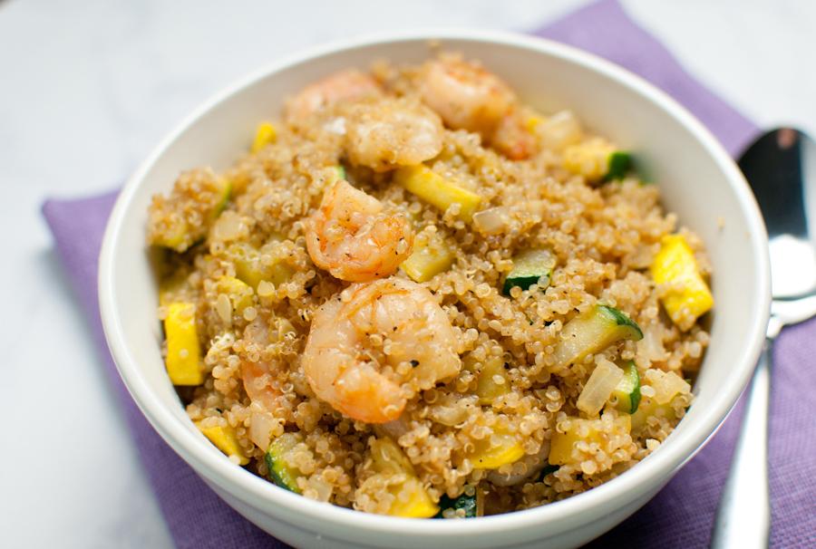 Shrimp Fried Quinoa - Tabitha Talks Food