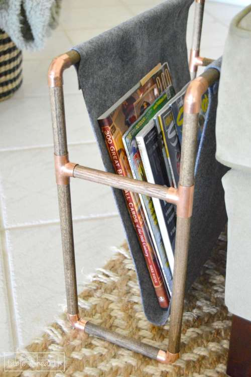 Copper Pipe Magazine Holder The Home Depot Gift