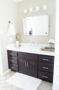 A Shiny New Master Bathroom Mirror | Table and Hearth