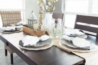 Dining Room Update: A Coastal Farmhouse Table Setting ...