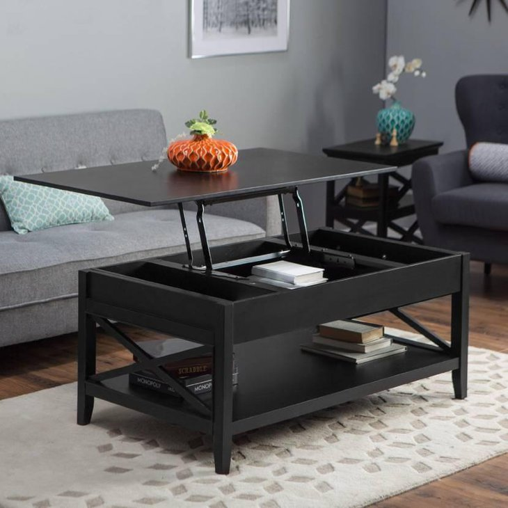 espresso sofa table