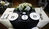 35 Black And White Wedding Table Settings | Table ...