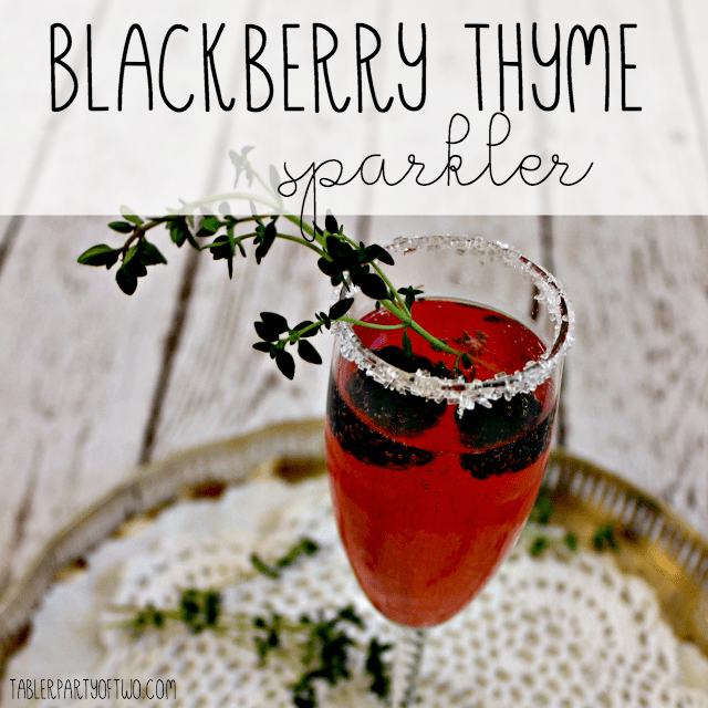 Blackberry Thyme Sparkler with Agave - oh my, I' LOVIN this cocktail! Tabler Party of Two - http://www.tablerpartyoftwo.com/blackberry-thyme-sparkler/