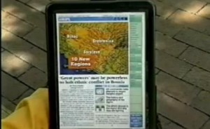 Tablet Newspaper : un concept d'il y a 16 ans