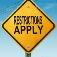 Restrictions panneau