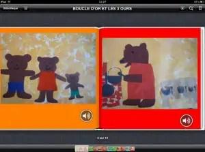 Boucle d'or et les trois ours sur iPad