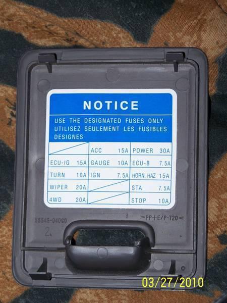 2010 Tacoma Fuse Box Wiring Diagram